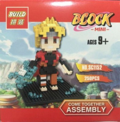 Bloco De Montar Anime Naruto Mini Com 252 Pcs