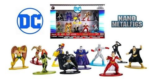 Nano Metalfigs - Personagens Dc Comics - 10 Miniaturas