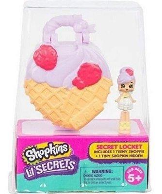 Micro Shopkins Lil Secrets Sorvete Mini Boneca Pingente