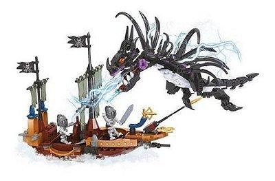 Blocos De Montar Ataque Do Dragão Do Pirata - 431 Peças