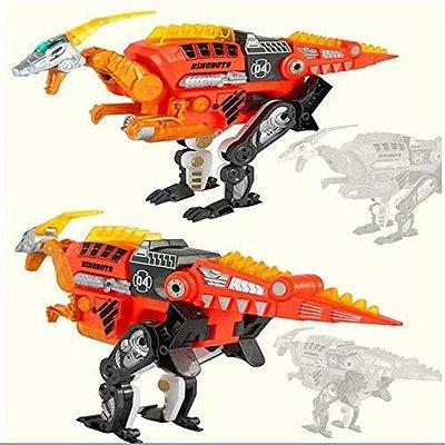 Dinossauro Robô Transformer Lançador Dardos Velociraptor
