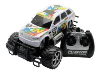 Carro RC Monster Truck Picape Corrida Branca