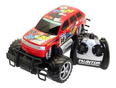 Carro RC Monster Truck Picape Corrida Vermelho
