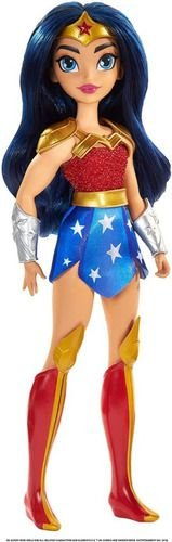 Boneca Dc Super Hero Girls Mulher Maravilha Linda 30cm