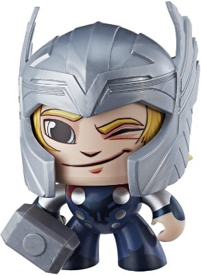 Boneco Marvel Vingadores Mighty Muggs Thor 3 Faces Original