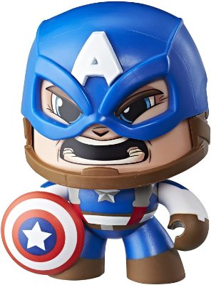Boneco Marvel Vingadores Mighty Muggs Capitão América 3 Faces