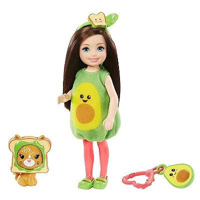 Boneca Barbie Chelsea Club Com Bichinho Fantasia De Abacate