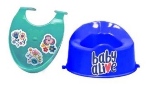 Acessórios De Boneca - Kit Babador E Pinico - Baby Alive