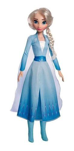 Boneca Princesa Elsa De 78cm - Disney Frozen 2