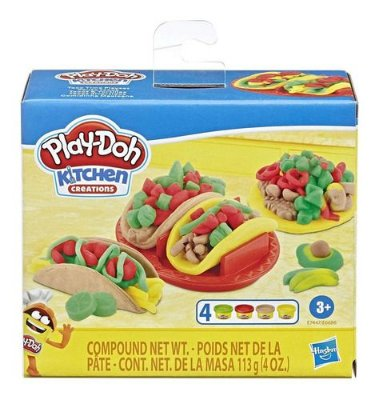 Massinha Play Doh Kitchen Comidinha Mexicana Com Moldes