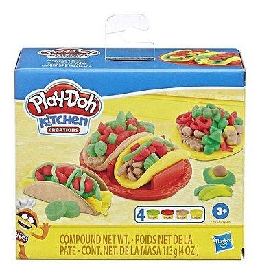 Massinha Play Doh Kitchen Comidinha Mexicana Com Moldes