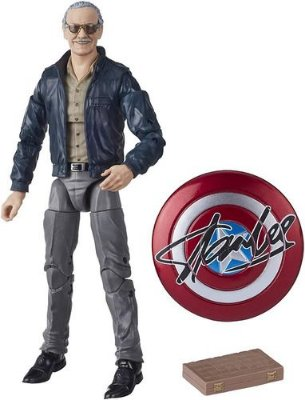 Boneco Stan Lee Marvel Legends Avengers Figura e Escudo