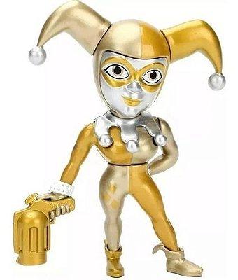 Harley Quinn Gold Metal Die Cast 10 Cm Dourado