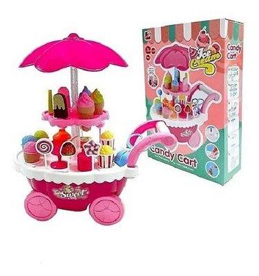 Carrinho De Sorvete Com Luz Som Ice Cream Candy Cart