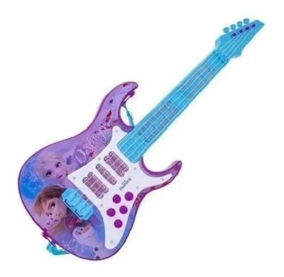 Guitarra Elétrica Infantil Disney Frozen 2 Anna Elsa Luz