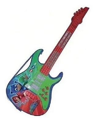 Guitarra Eletrônica Infantil Pj Mask - 45 Cm