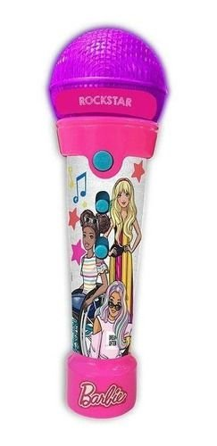Barbie Microfone Rockstar C Funcao Mp3 Player Com Luzes