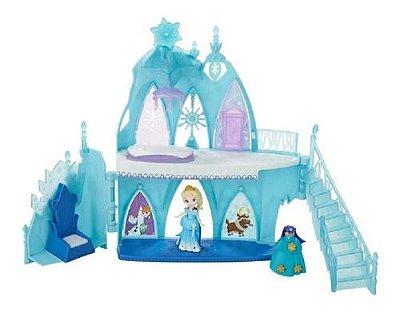 Castelo De Gelo Frozen Elsa De Luxo Playset Boneca