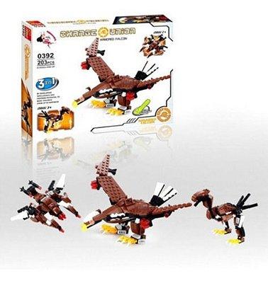Blocos De Montar Dinossauro Dragão Falcão 3 Em 1
