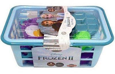 Kit Piquenique Frozen 2 - Disney 9 Peças Com Cestinha