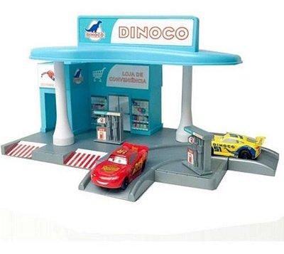 Posto Gasolina Disney Carros Macqueen Com 2 Carrinhos