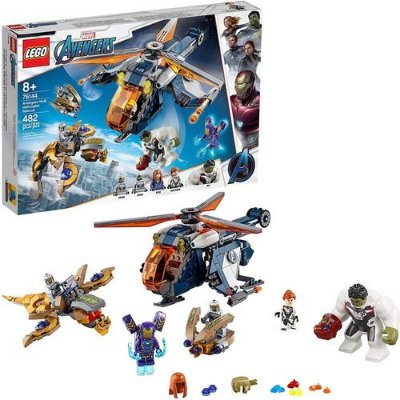 Lego Vingadores Largada De Helicóptero Hulk 482 Pcs