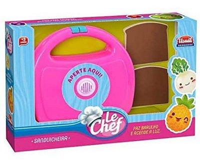 Sanduicheira Le Chef Cozinha Infantil Com Som