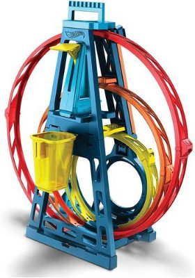 Hot Wheels Track Builder Pista Looping Triplo + Carro