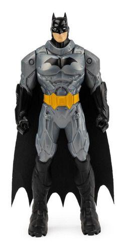 Boneco 15 Cm Batman Dc Armadura Cinza