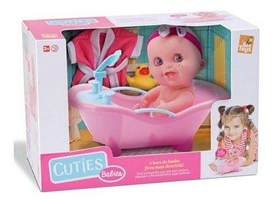 Boneca Cuties Banheira Magica Sai Agua De Verdade
