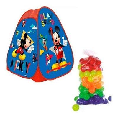 Barraca Portátil Mickey Disney Infantil + 25 Bolinha