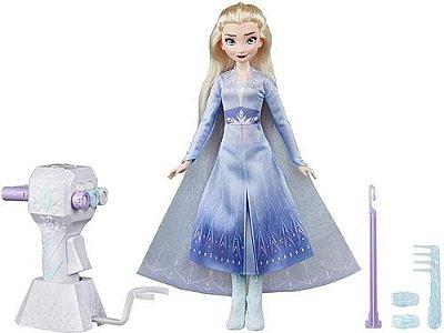 Boneca Articulada-disney-frozen 2 Tranças Elsa