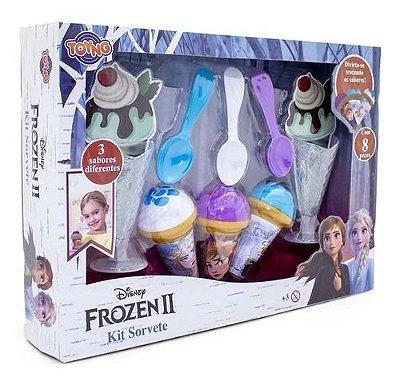 Kit Sorveteria Frozen 2 Com Acessórios 8 Peças 3 Sabores