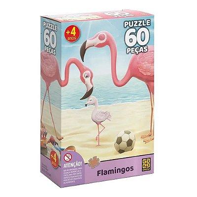 Quebra Cabeça 60 Peças Flamingos