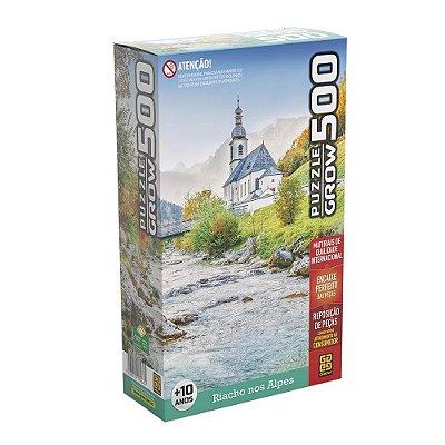 Quebra Cabeça 500 Peças Riacho nos Alpes Puzzle