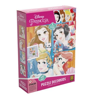 Quebra Cabeça Decorkids Princesa Disney Puzzle