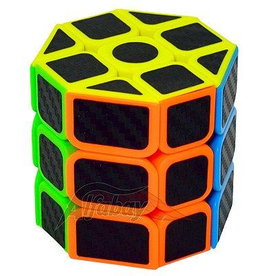 JieHui 3x3x3 Fisher Cilíndrico Redondo Carbon