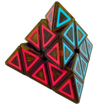 QiYi Pyraminx Black Stickerless Dimension