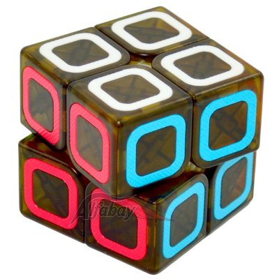 QiYi 2x2x2 Black Stickerless Dimension