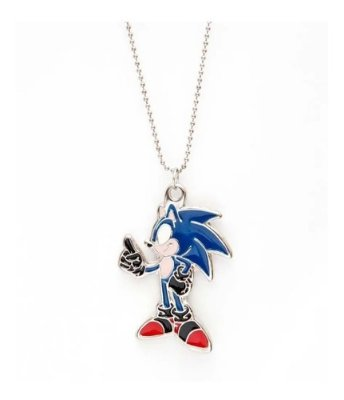 Colar Do Jogo Sonic - Ouriço Azul