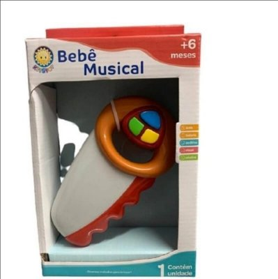 Chocalho Brinquedo Mordedor Divertido Musical Serrotinho