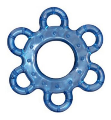 Mordedor Macio Para Bebe Massageamento Da Gengiva Flor Azul