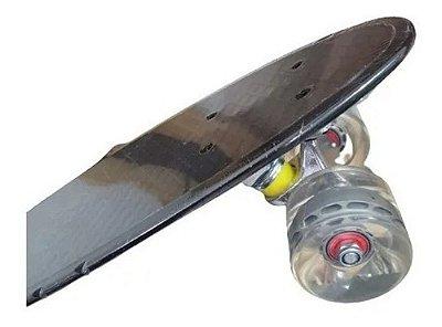 Skate Mini Cruiser Penny Fenix Infantil Criança Preto