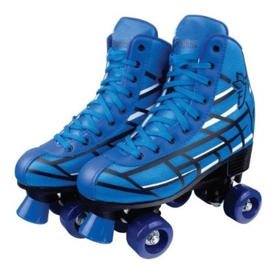 Patins Roller Quad Clássico Azul 4 Rodas 36 A 37 - Fenix