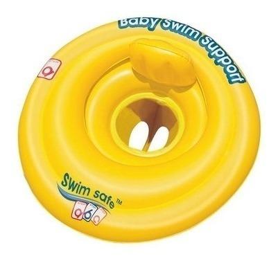 Boia Infantil Bebe Assento Fralda Inflável Swim Safe Piscina