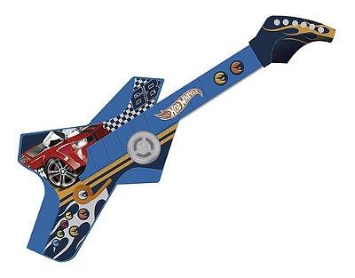 Guitarra Infantil Hot Weels Radical Touch Azul Menino Botões