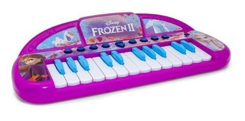 Teclado Musical Infantil Frozen 2 Grava E Reproduz + Brinde