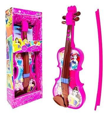 Violino Infantil De Brinquedo Princesa Disney Eletronico