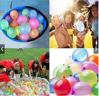 Kit 60 Bexigas Balão De Água Water Ballons Festas Sortida