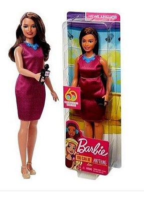 Barbie Repórter Morena Colecionável 60 Anos Edição Especial